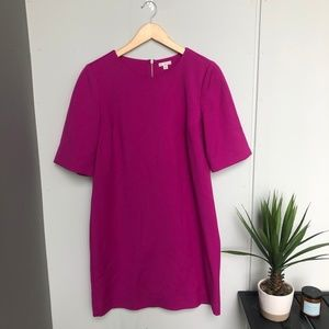 Gap Magenta Midi Zip Back Dress Size 10